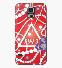 Crimson und Perlen Hülle & Klebefolie für Samsung Galaxy
