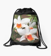 Painted Orchids Drawstring Bag