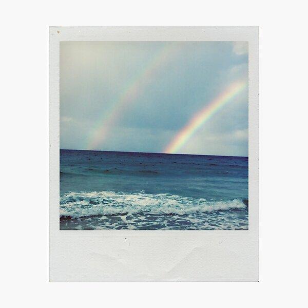 Double Rainbow Polaroid Photographic Print
