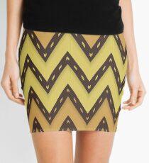 Chevron Weave Golden Equator Mini Skirt