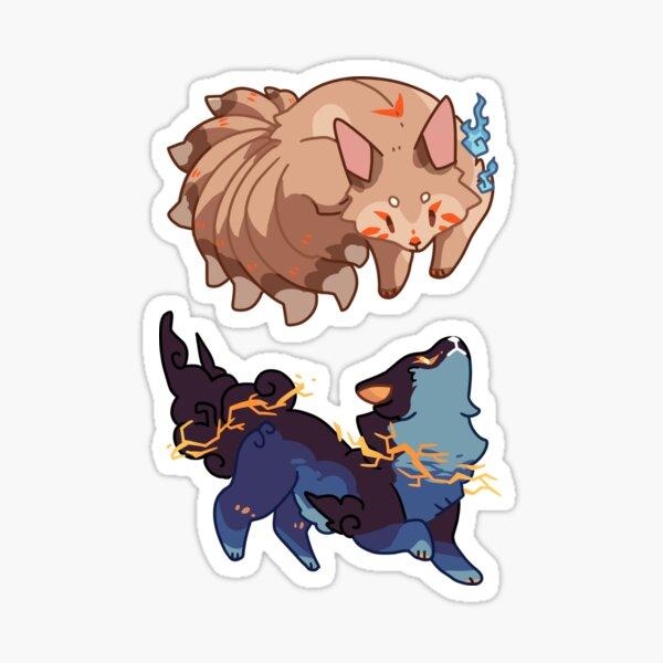 Kitsune & Raiju Sticker