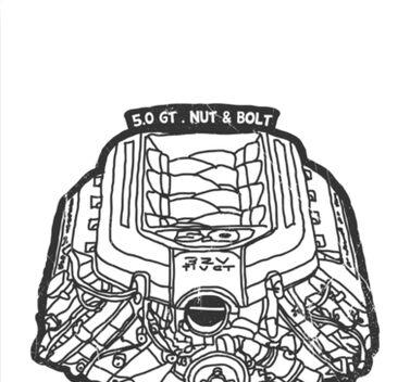 V8 Mustang Engine