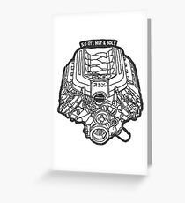Ford Mustang GT 5.0 V8 Engine Greeting Card