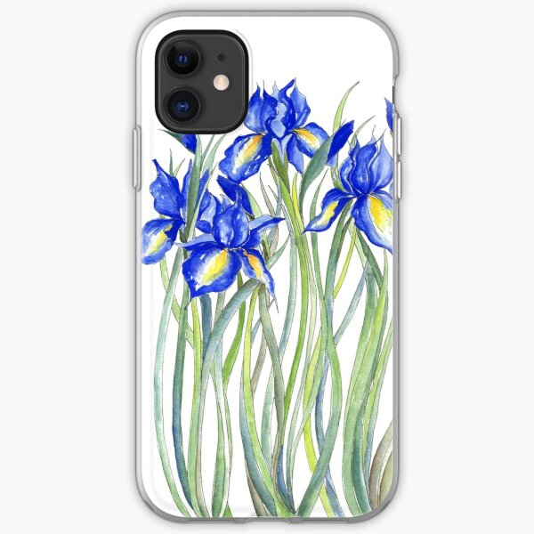 Blue Iris, Illustration iPhone Soft Case