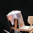 Medieval still life with helmet Kampen by patjila