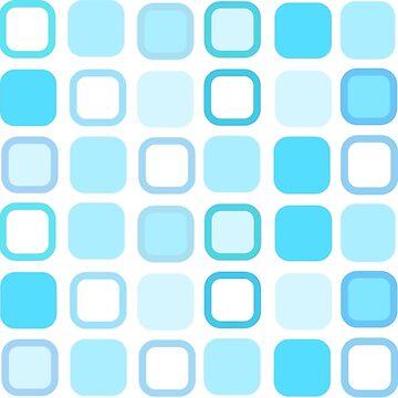 Retro Art Blue Squares by biglnet