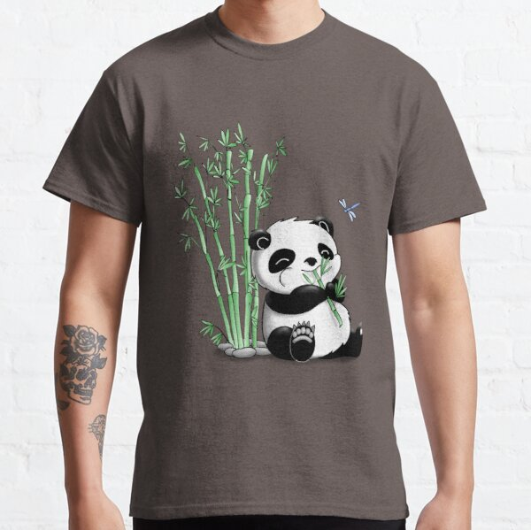 Panda Eating Bamboo Classic T-Shirt