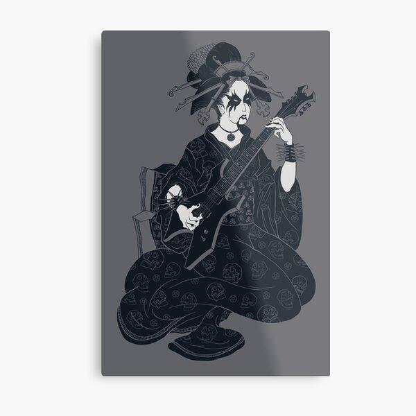 Black Metal Geisha Metal Print
