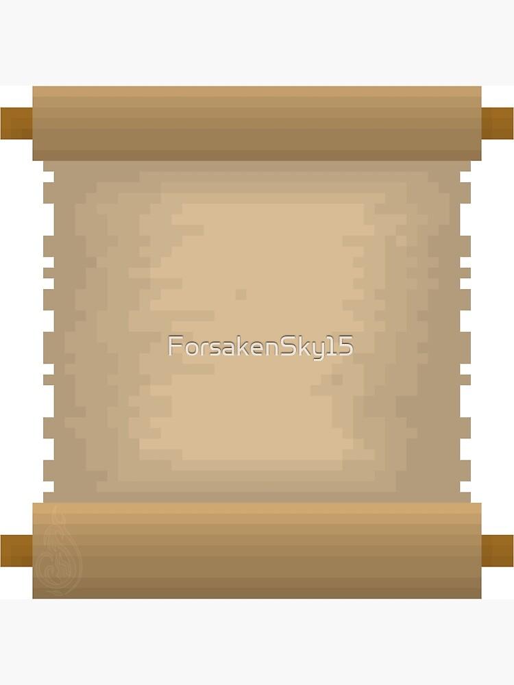 Carte De Vœux Pixel Art Rouleau Vierge Par Forsakensky15 Redbubble