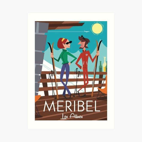 Meribel Ski Poster Art Print
