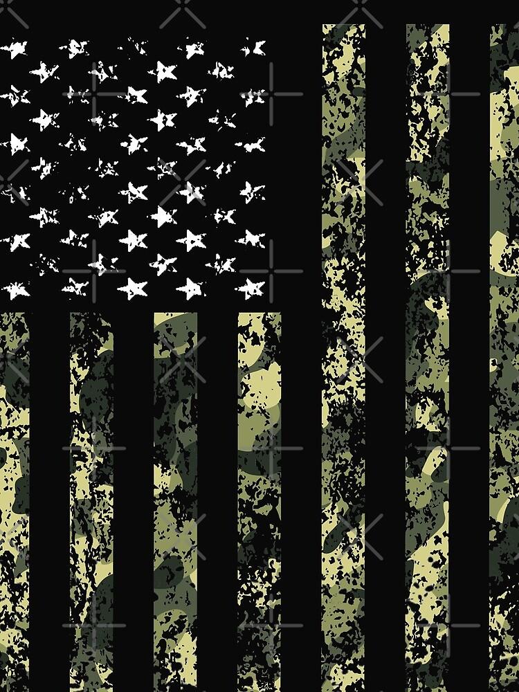 Camo American Flag by 2djazz