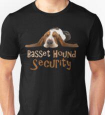 Funny Basset Hound Security Design Unisex T-Shirt