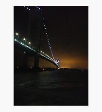 Verrazano Narrows Bridge, #Verrazano, #Narrows, #Bridge, #VerrazanoNarrowsBridge, #VerrazanoBridge, #NewYorkCity, #NewYork Photographic Print