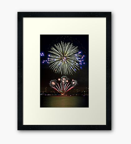 The Big Bang | New Years Eve | Sydney Harbour Framed Print