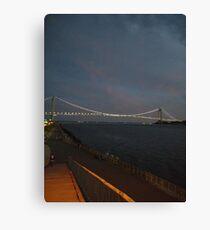 Verrazano Narrows Bridge, #Verrazano, #Narrows, #Bridge, #VerrazanoNarrowsBridge, #VerrazanoBridge, #NewYorkCity, #NewYork Canvas Print