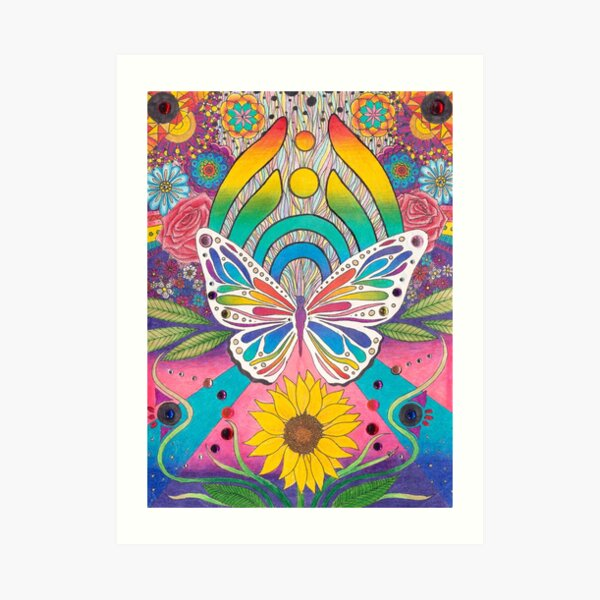 """""""Butterfly Nectar"""" by Aly Stinson Art Print"""