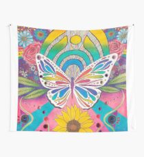 """""""Butterfly Nectar"""" by Aly Stinson Wall Tapestry"""