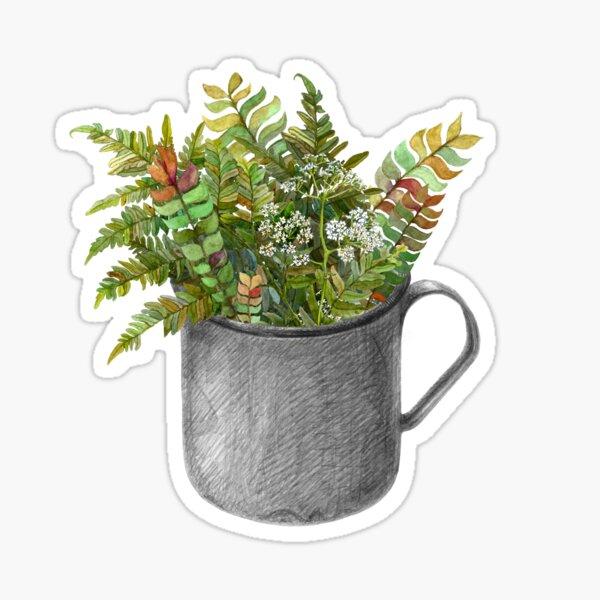 Mug with autumn fern Sticker