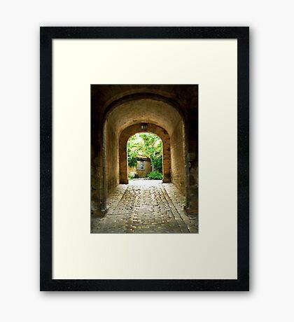 Citadel tunnel, Blaye Framed Print