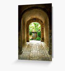 Citadel tunnel, Blaye Greeting Card