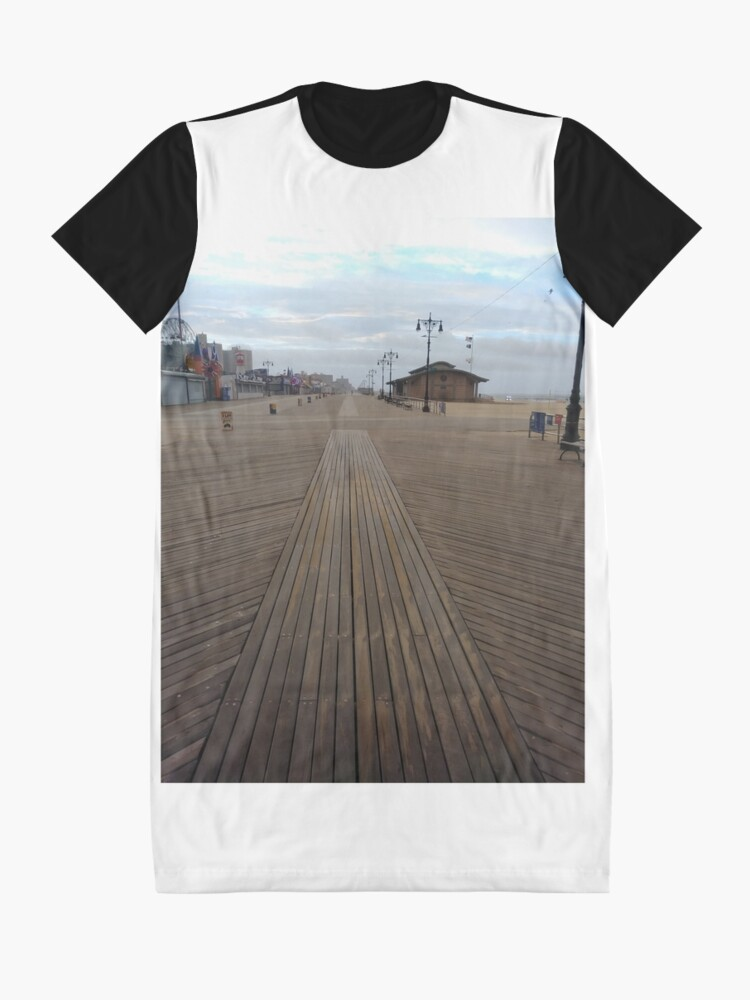 Alternate view of Coney Island - New York, #Coney, #Island, #New, #York, #ConeyIsland, #NewYork, #Boardwalk Graphic T-Shirt Dress