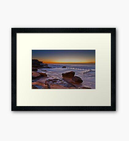 Mahon Pool Sunrise - Maroubra - NSW - Australia Framed Print