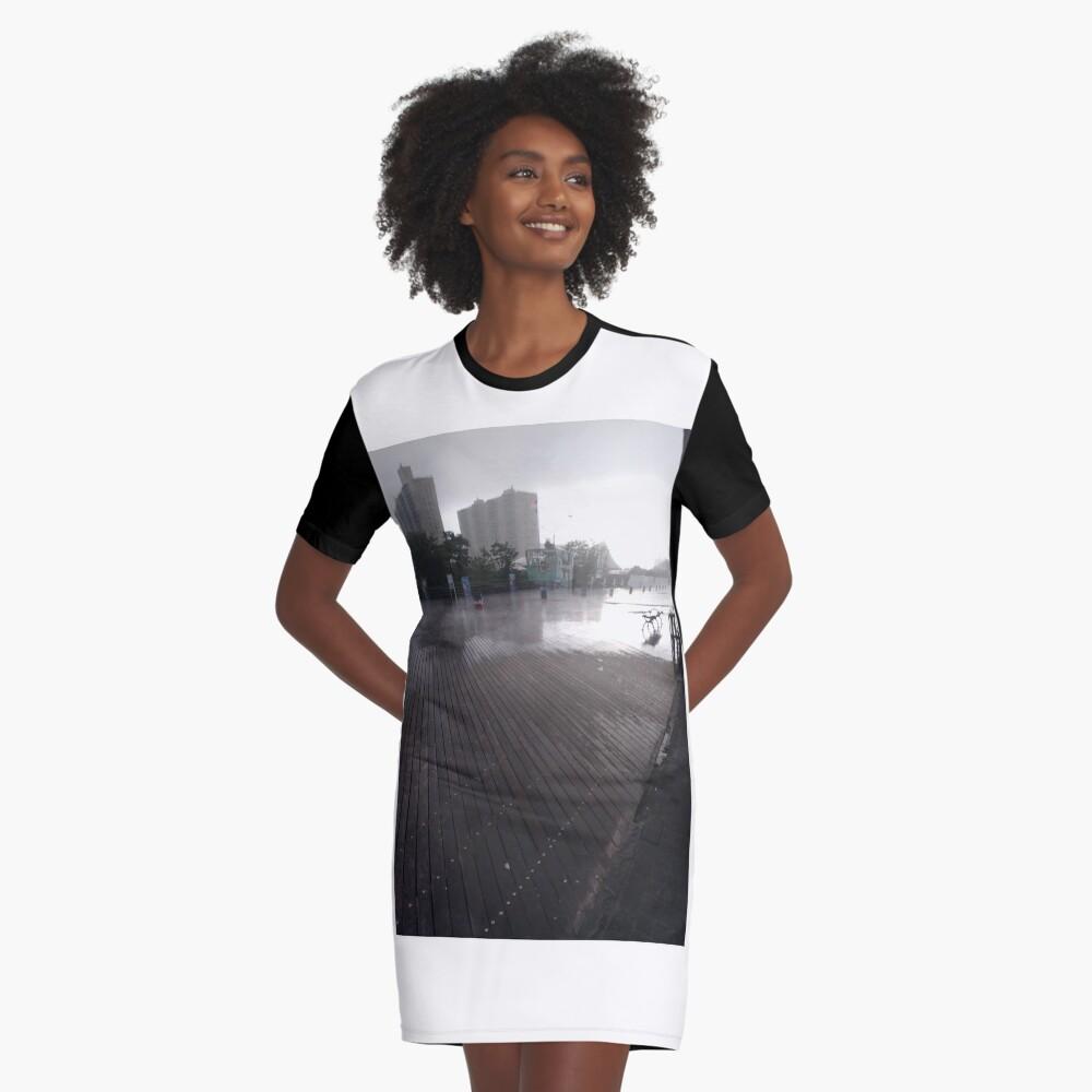 Coney Island - New York, #Coney, #Island, #New, #York, #ConeyIsland, #NewYork, New York City, City in New York Graphic T-Shirt Dress Front