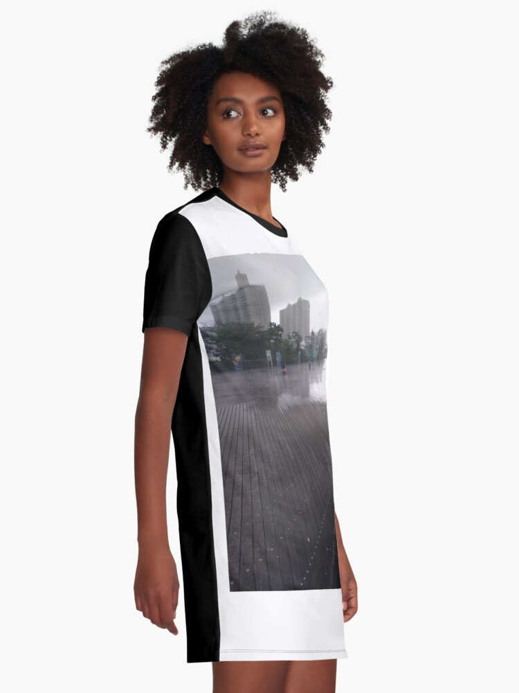 Alternate view of Coney Island - New York, #Coney, #Island, #New, #York, #ConeyIsland, #NewYork, New York City, City in New York Graphic T-Shirt Dress