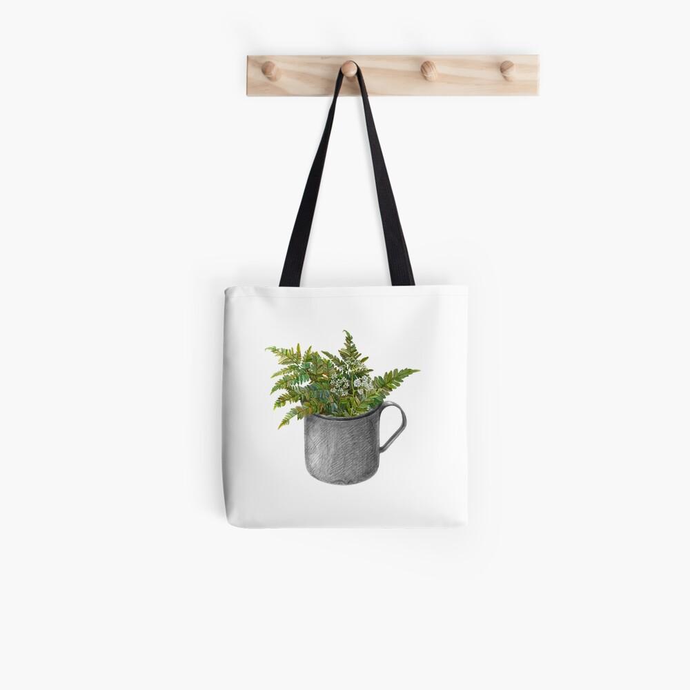 Mug with fern leaves Tote Bag