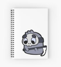 Cute Shy Reaper Doodle Ghost Spiral Notebook
