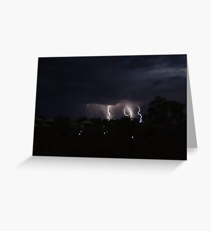 Karijini Lightning Greeting Card
