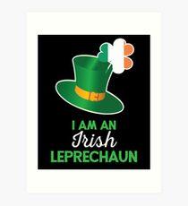 Irish St Patricks Day Leprechaun Art Print