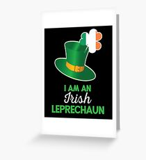 Irish St Patricks Day Leprechaun Greeting Card