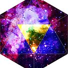 Purple Icosahedron Symbol in Space [Light Version] by CurrentXChange