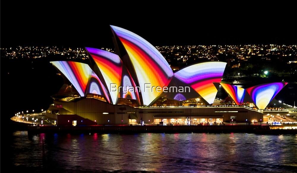 Psychedelic Sails - Sydney Vivid Festival - Sydney Opera House by Bryan Freeman