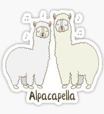 Alpacapella Singing Alpacas - Funny Animal Pun Gift Sticker