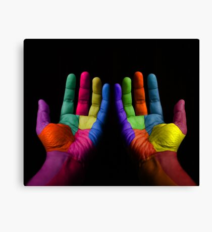 Colorful Hands Canvas Print