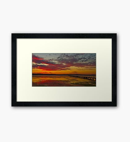 Long Jetty On Fire | New South Wales | Australia Framed Print