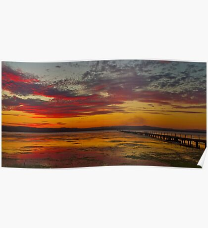 Long Jetty On Fire | New South Wales | Australia Poster