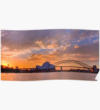 Sunset Sydney Harbour - Australia Poster