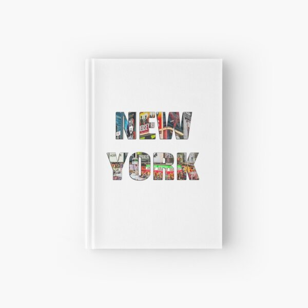 New York (colour photo filled flat type on white) Hardcover Journal