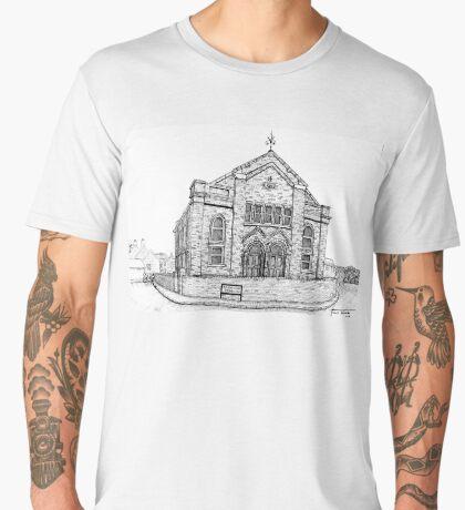 269 - SEION WELSH BAPTIST CHAPEL, PONCIAU - DAVE EDWARDS - INK - 2018 Men's Premium T-Shirt
