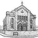 269 - SEION WELSH BAPTIST CHAPEL, PONCIAU - DAVE EDWARDS - INK - 2018 by BLYTHART