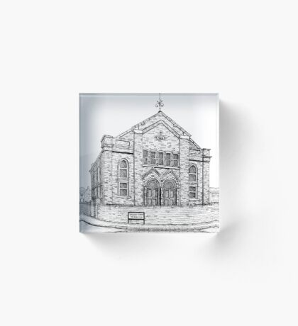 269 - SEION WELSH BAPTIST CHAPEL, PONCIAU - DAVE EDWARDS - INK - 2018 Acrylic Block