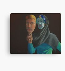 Mask of Reality Canvas Print
