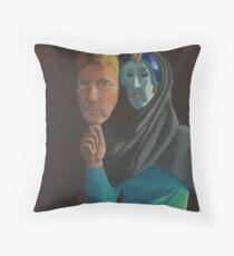 Mask of Reality Throw Pillow