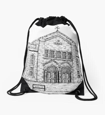 269 - SEION WELSH BAPTIST CHAPEL, PONCIAU - DAVE EDWARDS - INK - 2018 Drawstring Bag