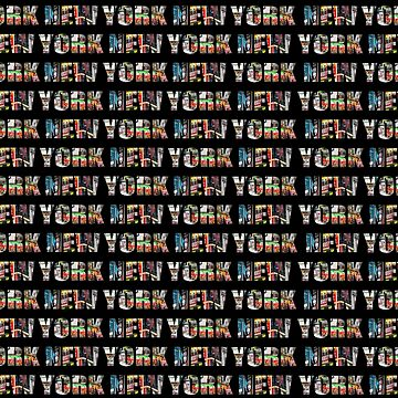 New York (horizontal typography) by RayW