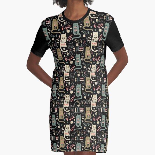 Cat Folk  Graphic T-Shirt Dress