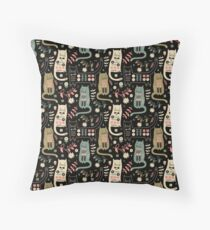 Cat Folk  Throw Pillow